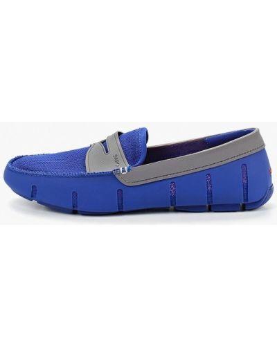Текстильные мокасины - синие Swims