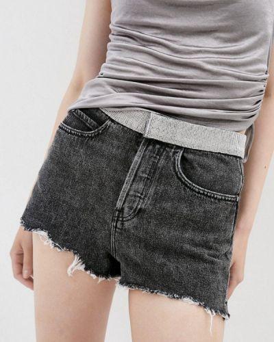Серые джинсовые шорты Miss Sixty