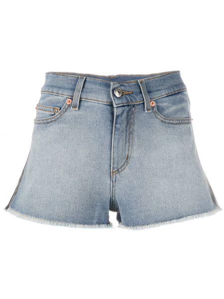 Хлопковые джинсовые шорты с поясом с бахромой Zadig&voltaire