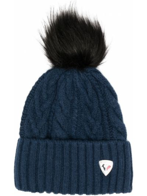 Шерстяная шапка бини - синяя Rossignol
