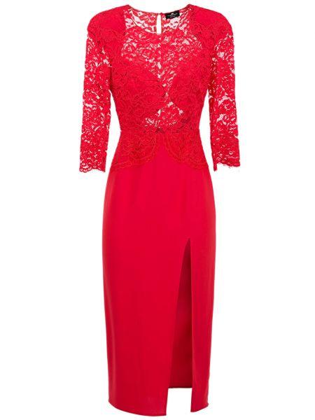 Платье из вискозы - красное Elisabetta Franchi