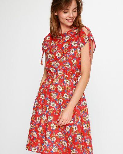 Платье мини с поясом из вискозы Medicine