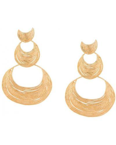 Золотистые желтые серьги с бабочкой Gas Bijoux