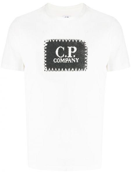 Рубашка с короткими рукавами с логотипом Cp Company Kids