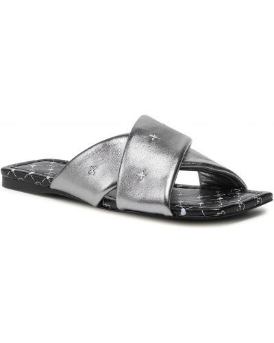 Sandały srebrne Eva Minge