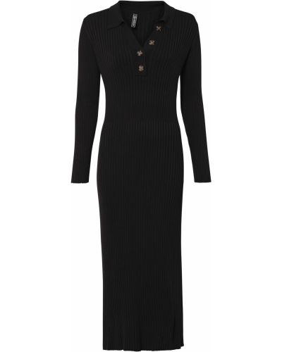 Вязаное платье - черное Bonprix