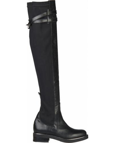 Ботфорты на каблуке кожаные L'estrosa