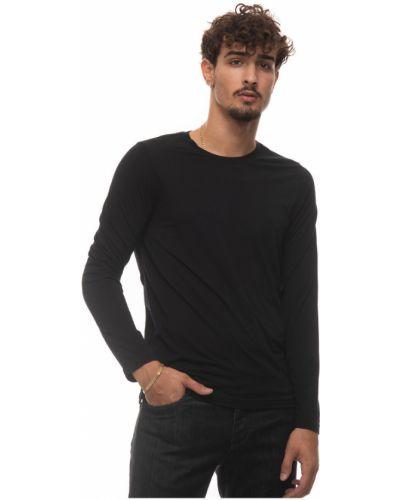 Czarna t-shirt Canali