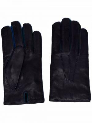 Rękawiczki skorzane - niebieskie Paul Smith