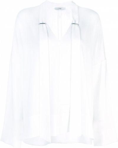 Блузка с длинным рукавом с завязками белая Tibi