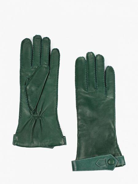 Зеленые кожаные перчатки Esmee