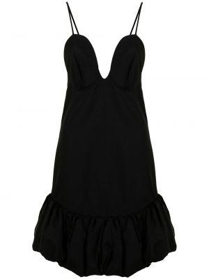 Черное платье мини трапеция с вырезом Khaite