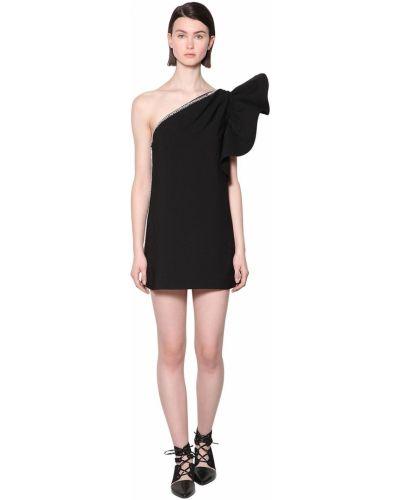 Платье мини с декольте - черное Self-portrait
