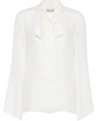 Jedwab biały bluzka zabytkowe Etro