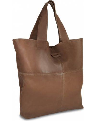 Кожаная сумка шоппер коричневый Ecco