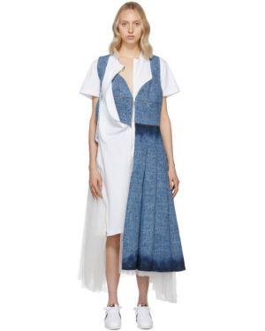 Джинсовое платье из фатина макси Junya Watanabe