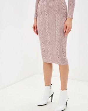 Облегающее платье осеннее розовое Brusnika