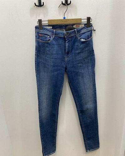 Синие зауженные джинсы Rifle