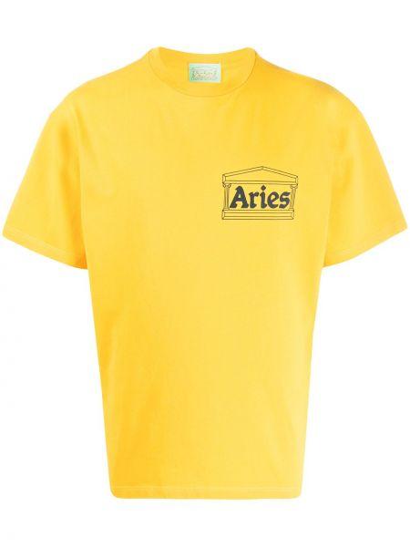 Koszula krótkie z krótkim rękawem prosto z nadrukiem Aries