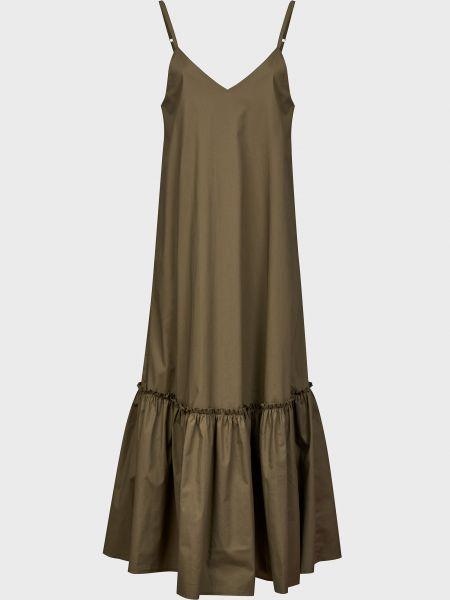 Хлопковое зеленое платье Kontatto