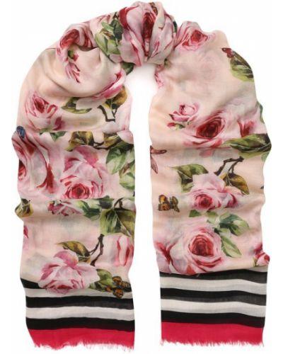 Шарф узкий с цветочным принтом Dolce & Gabbana