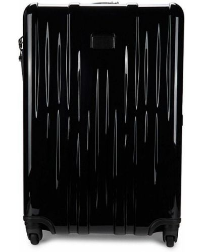 Черный кожаный чемодан Tumi