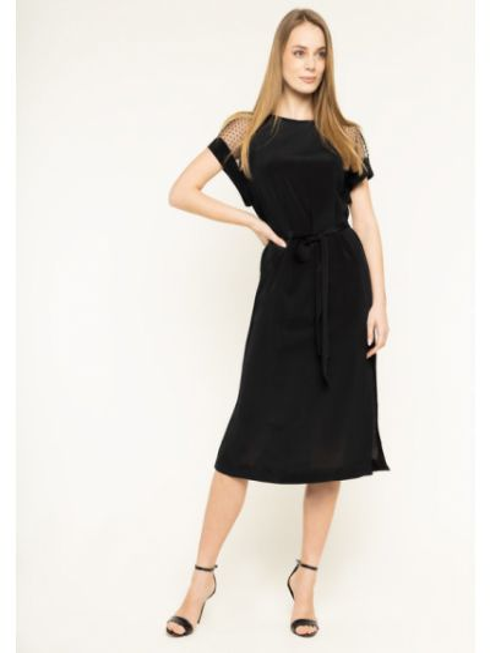 Czarna sukienka koktajlowa Escada Sport