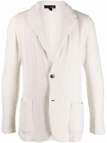 Biały z kaszmiru sweter Lardini