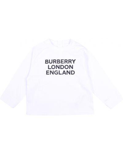 Biały sweter Burberry