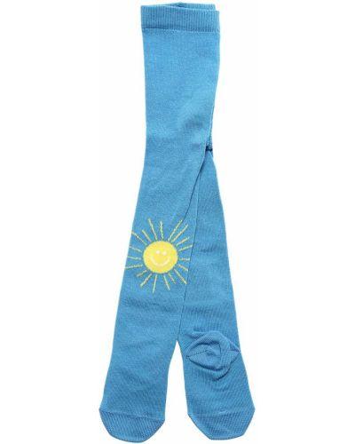 Niebieski bawełna bawełna rajstopy Stella Mccartney Kids