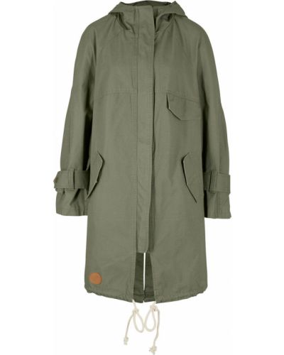 Зеленая куртка с капюшоном Bonprix