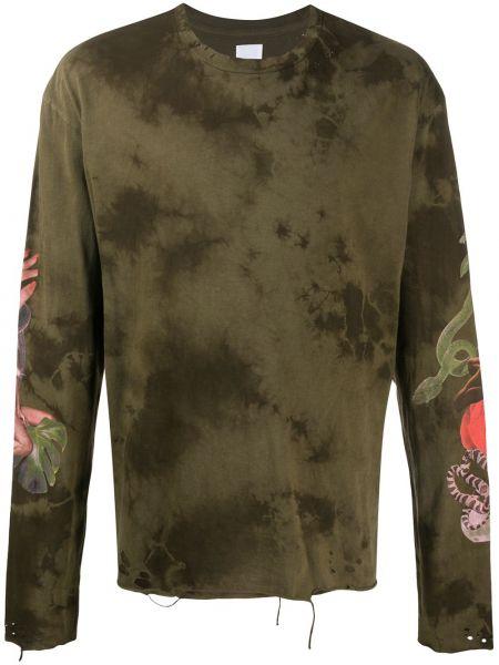 Zielona bluza z długimi rękawami bawełniana Alchemist