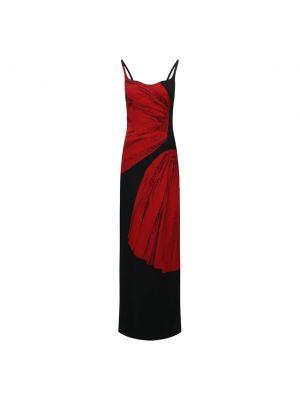 Платье из вискозы - черное Dries Van Noten