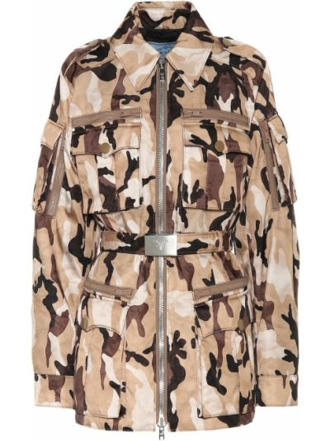 Куртка милитари - коричневая Prada