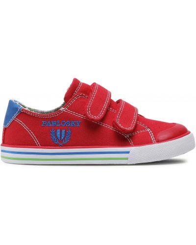 Кроссовки на липучках - красные Pablosky