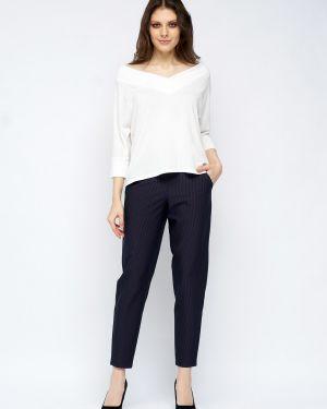 Костюмные зауженные укороченные брюки с карманами свободного кроя Fiato