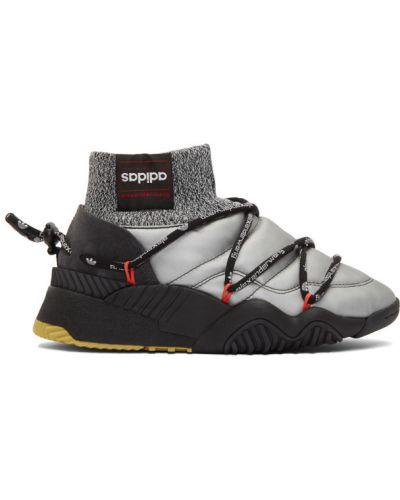 Черный кружевной топ на шнуровке Adidas Originals By Alexander Wang
