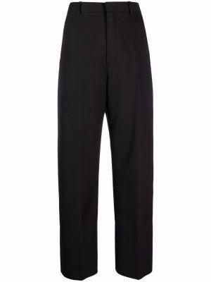 Spodnie z wysokim stanem z paskiem - czarne Jacquemus