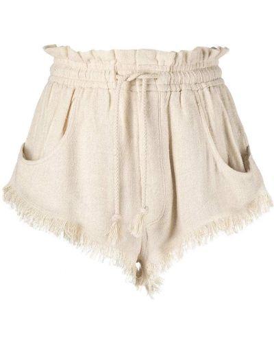 С кулиской шелковые шорты с карманами Isabel Marant
