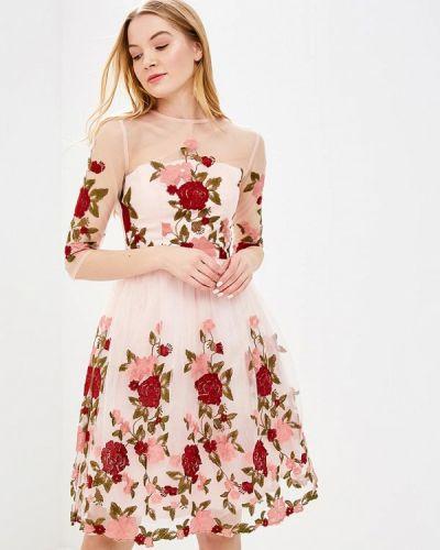 Розовое коктейльное платье Chi Chi London