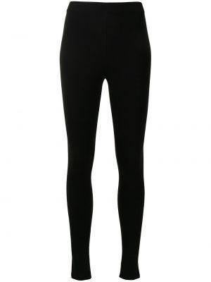 Czarne spodnie wełniane Mrz
