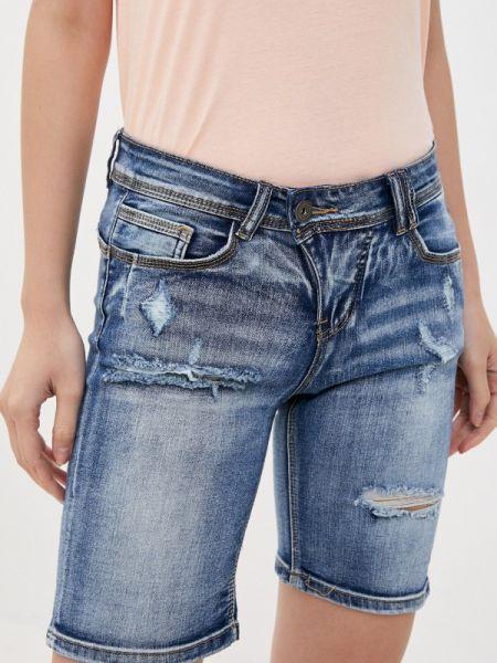 Синие джинсовые шорты со стразами Rock Angel