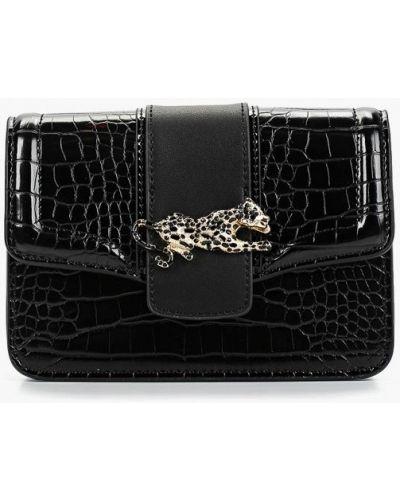 Кожаный сумка поясная черная Topshop