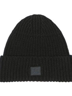 Черная классическая шапка бини Acne Studios Kids