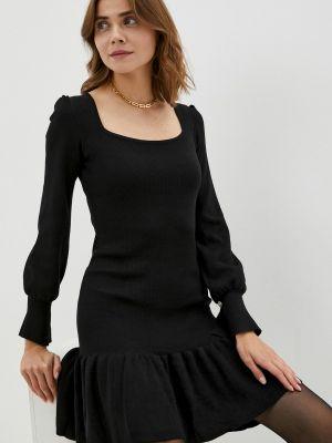 Черное зимнее платье Goldrai