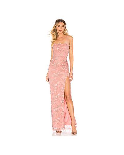 Вечернее платье на шнуровке со вставками Majorelle