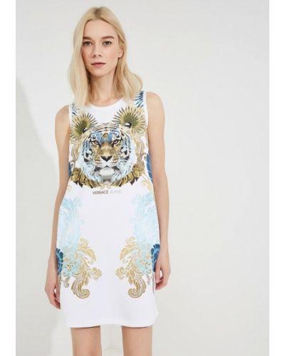 Белое платье Versace Jeans
