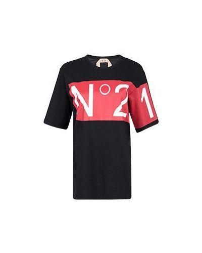 Черная футболка No.21