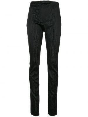 Кожаные черные брюки с карманами Alex Perry