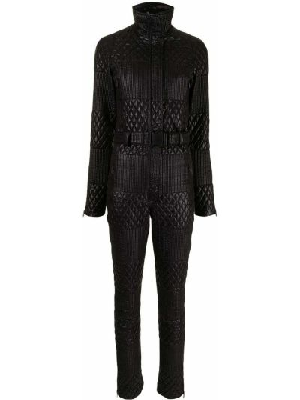 Черная стеганая спортивная куртка с воротником Chanel Pre-owned